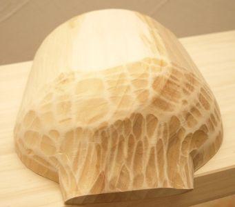 Rustikale Molle, Mulde, Backtrog handgehauen aus Holz 32 x 15 x 7 cm – Bild 2