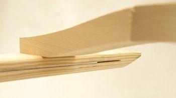 Dachleiter aus Holz ohne oder mit Aluband 8 Sprossen – Bild 3
