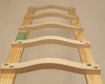 Dachleiter aus Holz ohne oder mit Aluband 12 Sprossen