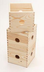 Holzkiste Holzbox  17 x 17 x 15 cm mit Eingriffen – Bild 3
