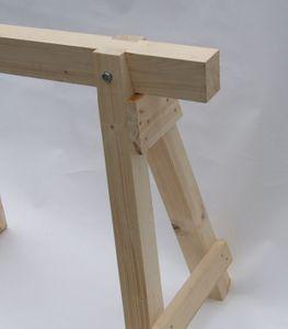 Schwerer Arbeitsbock Zimmererbock aus Holz 100 cm Höhe 80 cm – Bild 2