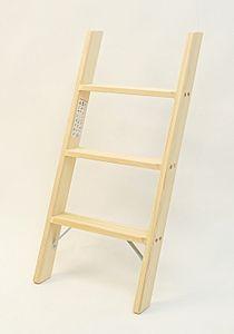 Parallelanlegeleiter 3 Stufen angestellte Höhe 84 cm – Bild 1
