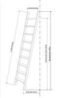 Parallelanlegeleiter 3 Stufen angestellte Höhe 84 cm – Bild 2