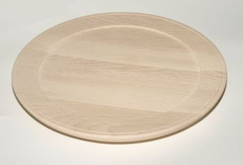 Holzteller aus Buche gedrechselt unbehandelt D 30 cm – Bild 1
