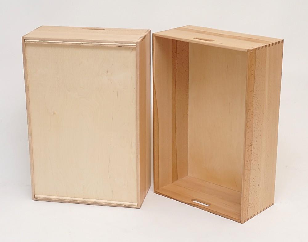 Holzkiste holzbox aus buche lackiert 60 x 40 x 21 cm wohn for Kuchenschrank 40 x 60