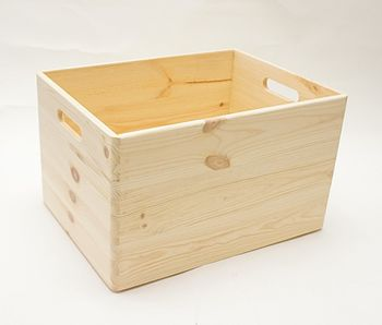 Holzkiste Holzbox Kiefer 40 x 30 x 24 cm – Bild 1