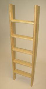 Stufen-Anlegeleiter für senkrechten Einbau, Gesamthöhe 2,64 m – Bild 1