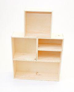 Holzkiste Holzbox Regalsegment 60 x 30 x 17 cm – Bild 3