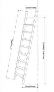 Parallelanlegeleiter/Stufenleiter ohne Stirnbrett senkrechte Höhe 2,69 m geriffelte Stufenoberfläche. – Bild 1
