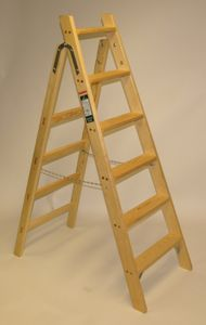 Haushaltsleiter 4 Stufen eine gute Holzleiter