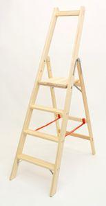 Holzleiter Bibliotheksleiter 4 Stufen – Bild 1