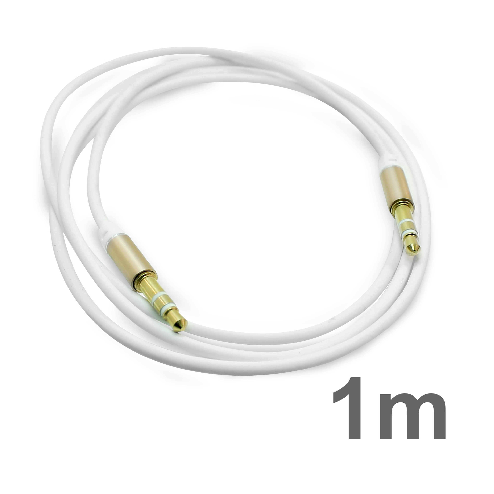 Aux Kabel 1M 3,5mm Stereo Klinken Kabel Audio Klinke für Handy MP3 Auto Stecker