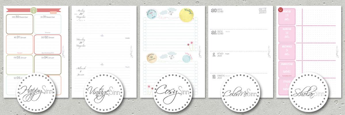 Teil 1 SinnWunder Kalender-Designs