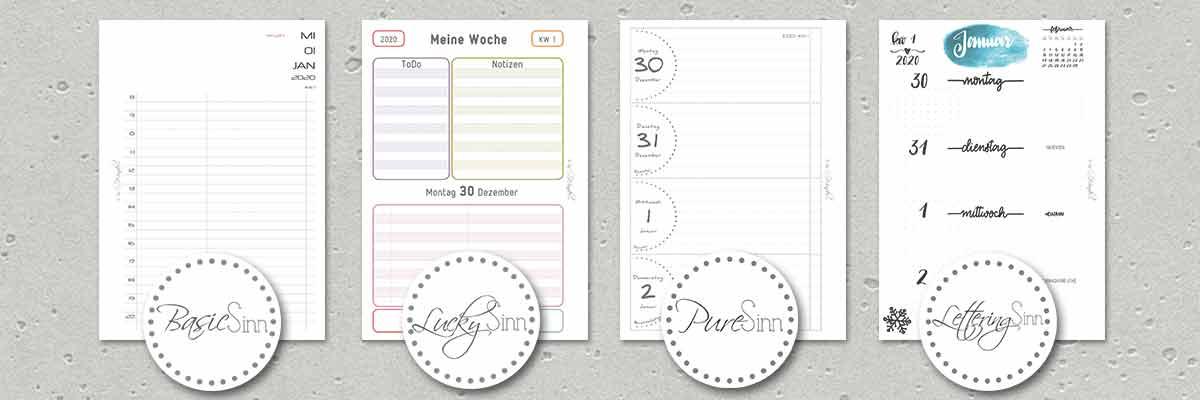 SinnWunder Kalender-Designs