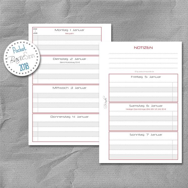 """Wochenkalender """"BasicSinn"""" Pocket – Bild 1"""