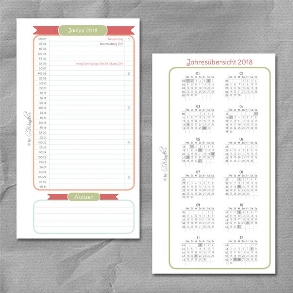 "Wochenkalender ""HappySinn"" DinA6 – Bild 2"