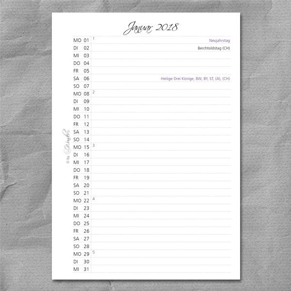 "Kalenderbuch SmartSinn ""Vintage"" DinA5 – Bild 5"
