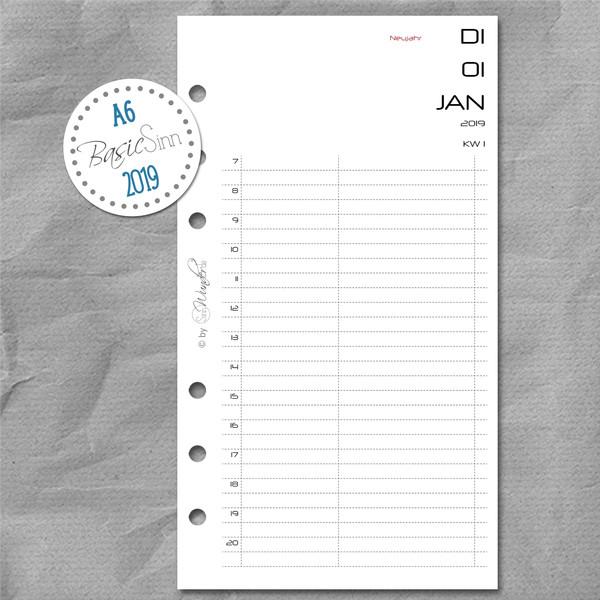 "2019 Tageskalender ""BasicSinn"" DinA6 (Personal) – Bild 1"