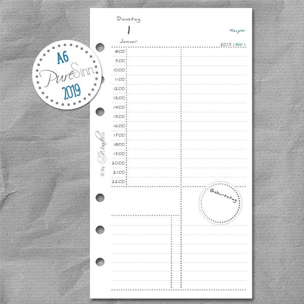 "2019 Tageskalender ""PureSinn"" DinA6 (Personal) – Bild 1"