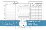 "Planner Refills, Notes ""ColorMeSinn"" Personal Size 001"