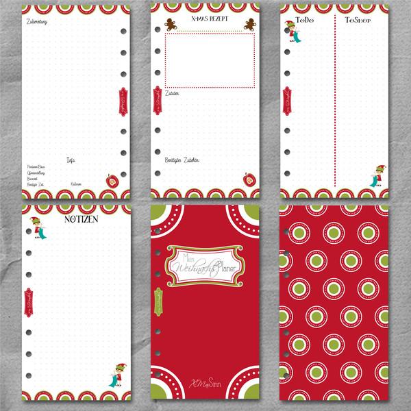 "Weihnachtsplaner ""XMasSinn"" DinA6 (Personal) – Bild 3"
