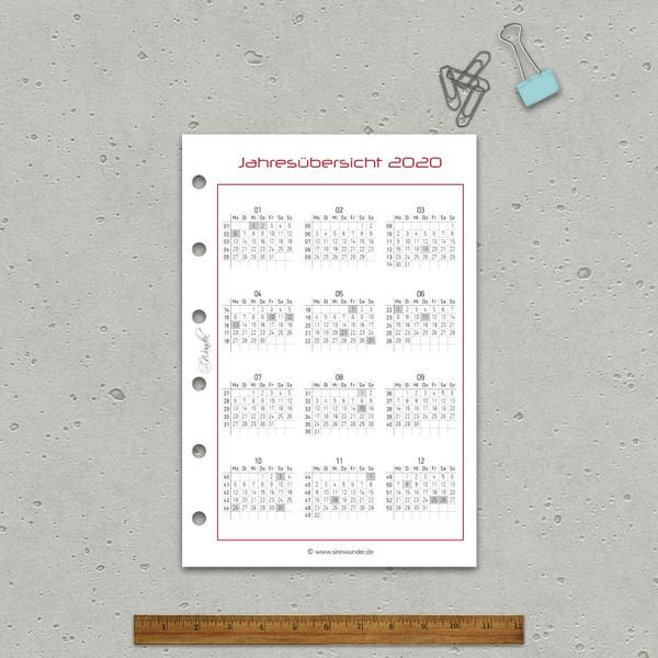 """2020 Wochenkalender """"BasicSinn"""" Pocket – Bild 5"""