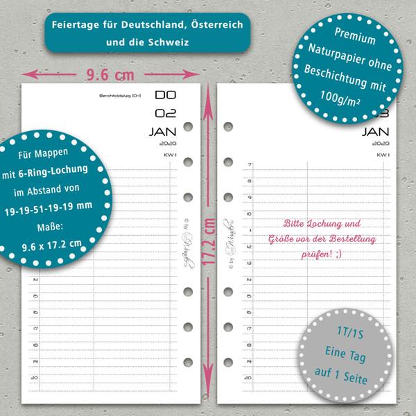 """2020 Tageskalender """"BasicSinn"""" Personal (A6) – Bild 3"""
