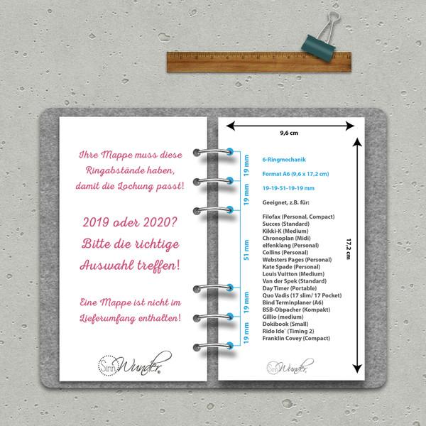 """2020 Tageskalender """"VintageSinn"""" Personal (A6) – Bild 6"""