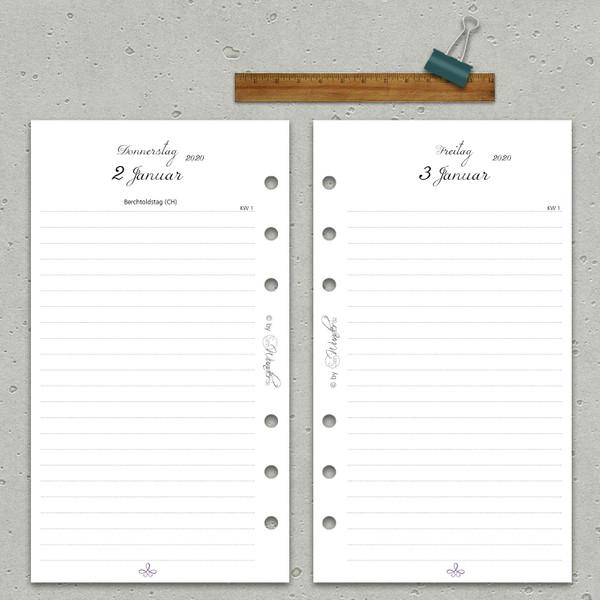"""2020 Tageskalender """"VintageSinn"""" Personal (A6) – Bild 2"""