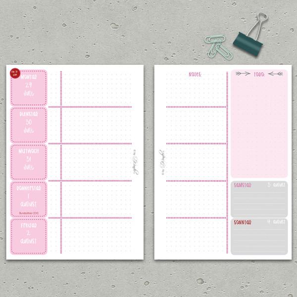 """2019/20 Kalenderbuch ScholarSinn """"Rose`"""" DinA5 – Bild 2"""