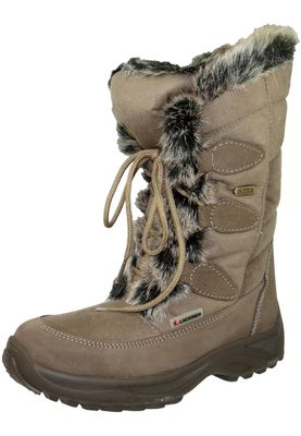 Lackner Womens Winter Boots Winter Boots Spikes 7606 RENATE LS TX OC Taupe Brown Brown – Bild 1