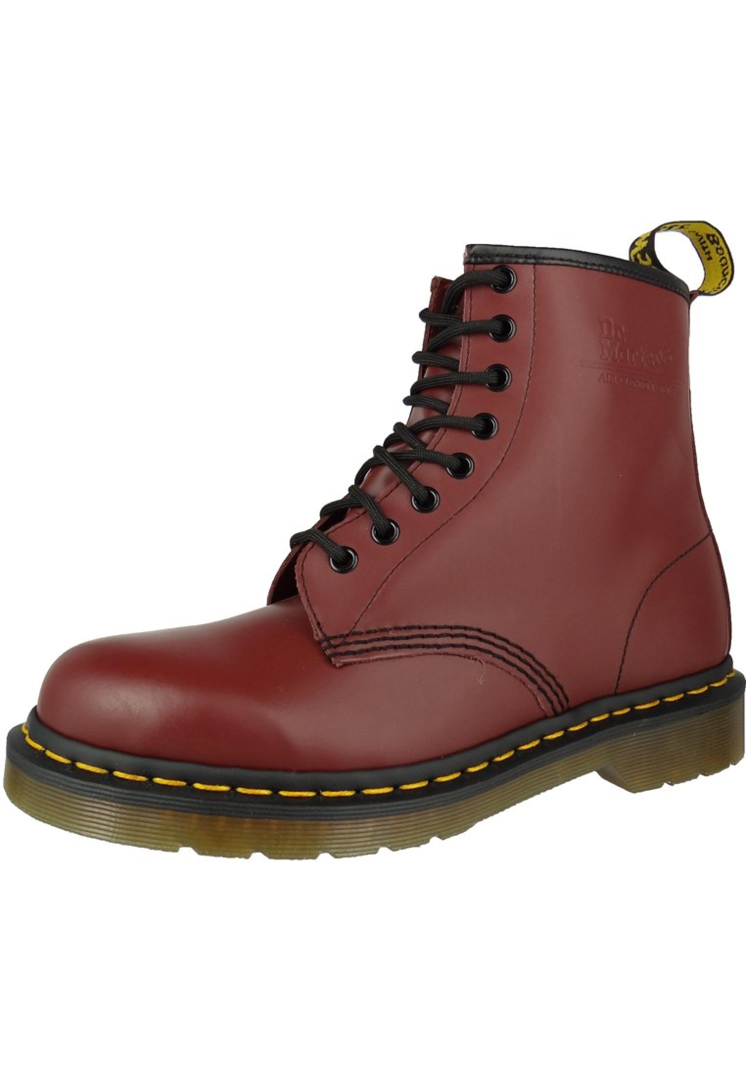 08467e5914e6e3 DOC DR.MARTENS 1460 Cherry Red Rot 8-Loch 11822600 Herrenschuhe ...