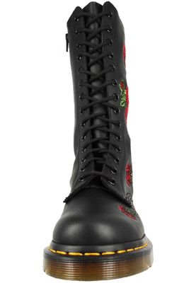 Dr. Martens VONDA 12761001 Ladies Embroidery Roses Black Black 14-Hole – Bild 6