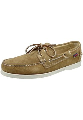 Sebago Shoes B72763 DOCKSIDES Sand Suede Sable Brown – Bild 1