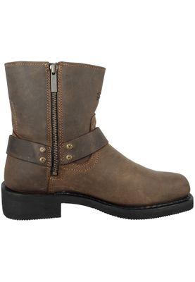 Harley Davidson Biker Boots Ankle Boot El-Paso D94423 Brown Brown Short Harness – Bild 4