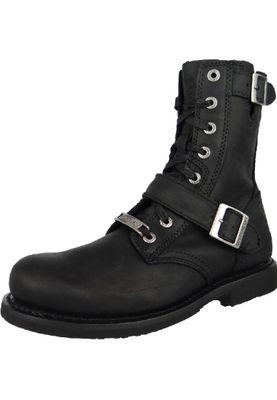 Harley Davidson Biker Boots D95264 RANGER Engineerstiefel schwarz   black – Bild 1
