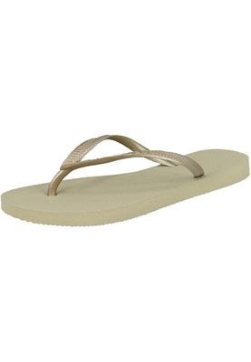 havaianas the original cult thong flip flops HAVAIANAS Slim sand light golden beige gold – Bild 1