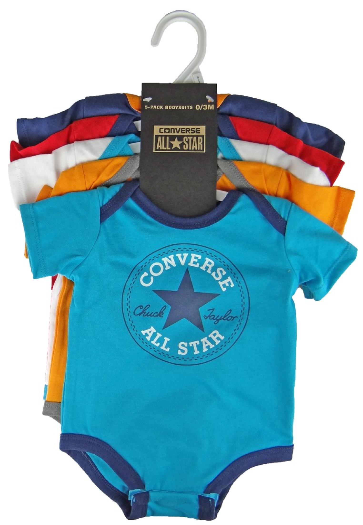 Converse Baby Romper 562273 Boys Baby Bodys Set Of 5 On Hanger