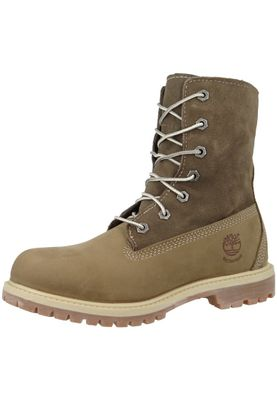 Timberland Damen Winterstiefel Authentics Teddy Fleece Taupe Nubuck Braun 8330R – Bild 1
