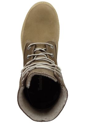 Timberland Womens Winter Boots Authentics Teddy Fleece Taupe Nubuck Brown 8330R – Bild 6