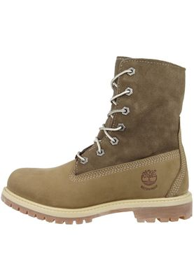 Timberland Womens Winter Boots Authentics Teddy Fleece Taupe Nubuck Brown 8330R – Bild 7
