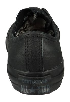 Converse Chucks 135253C AS OX Black Monochrome Leather Black – Bild 4