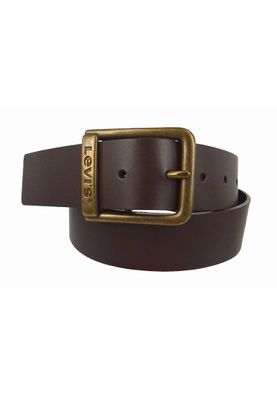 Levis Gürtel Ledergürtel Branded Bridge Buckle Dark Brown Dunkelbraun Braun - 221484-3-29 – Bild 1