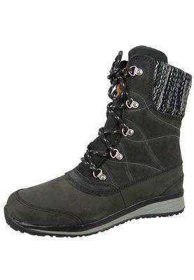 Salomon Damen Winter Stiefel Hime Mid LTR CSWP 378393 Schwarz Asphalt Asphalt Pewter – Bild 1