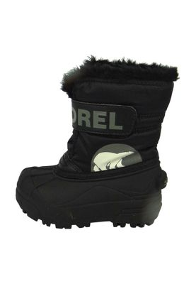 Sorel Kids Winter Boots SNOW COMMANDER Lined NC1877-010 Black Charcoal Black – Bild 7