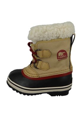 Sorel Kinder Winterstiefel YOOT PAC Nylon Gefüttert Youth NY1879-373 Curry Red Dahlia Beige – Bild 7