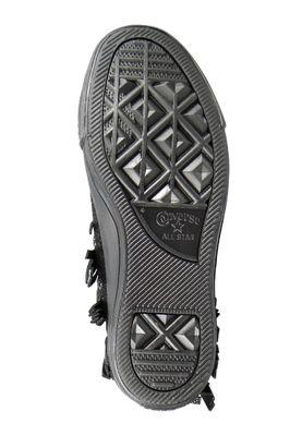 Converse Chucks Sting Ray Leather Fringe 553331C Franzen Schwarz Black  – Bild 3