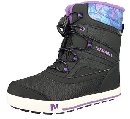 Merrell Kids Kinderstiefel Snow Bank 2.0 Waterproof Black Print Berry Schwarz MC56089 – Bild 1
