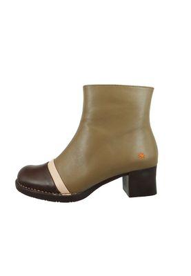 Art Leder Stiefelette Ankle Boot Bristol Rock Beige Braun 0077 – Bild 2