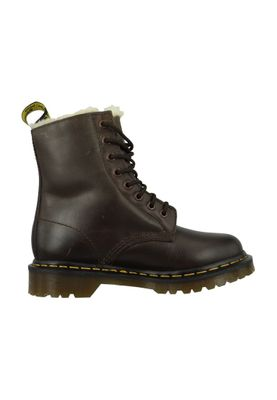 Dr. Martens SERENA Dark Brown Burnished Wyoming Dunkelbraun Braun 8-Loch Warmfutter 21797201 – Bild 3